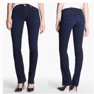 J Brand Cigarette Leg Jeans Ink Wash Mid Rise 27